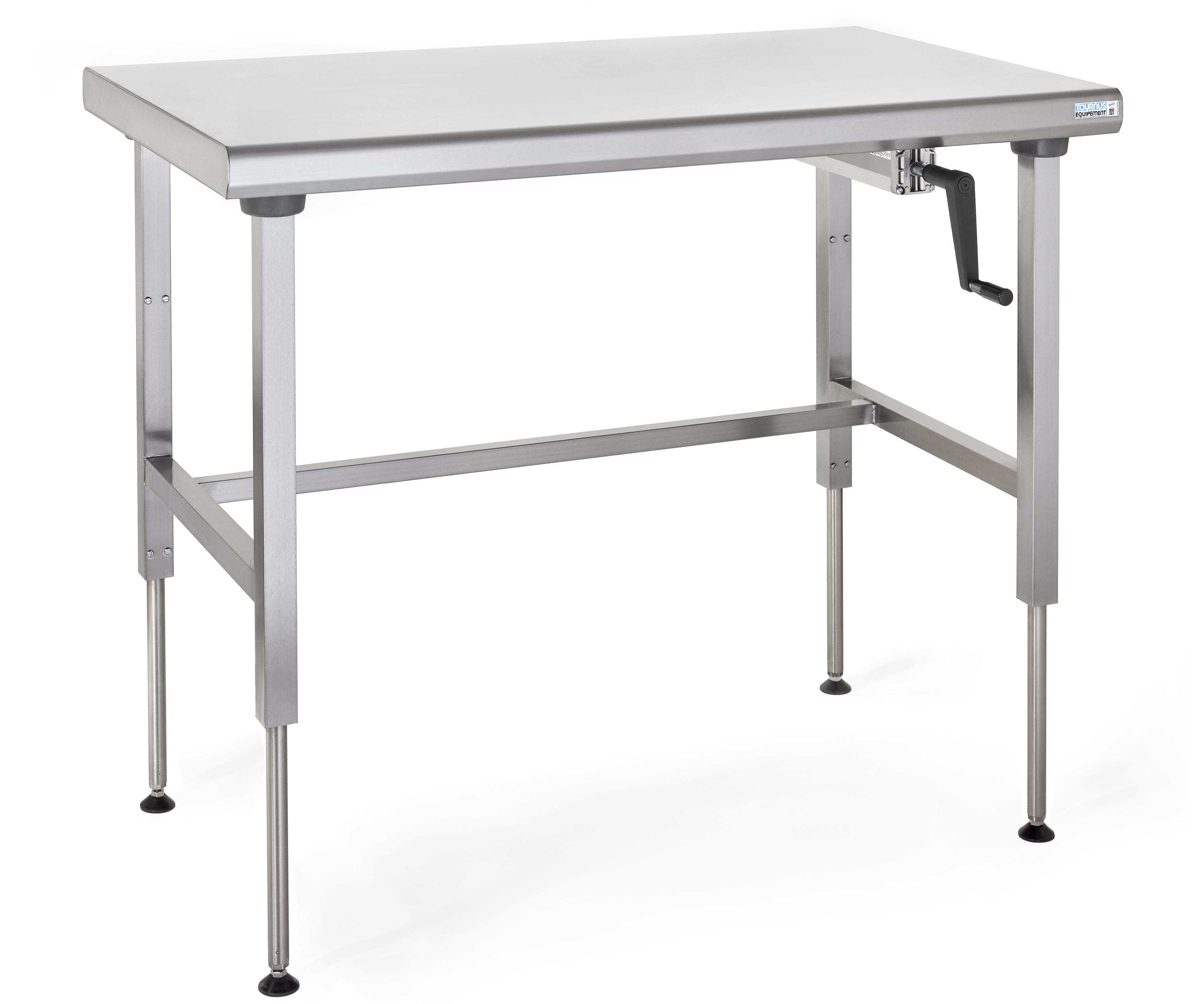 Table Ergonomix 9 cm en inox à hauteur réglable - MJPRO