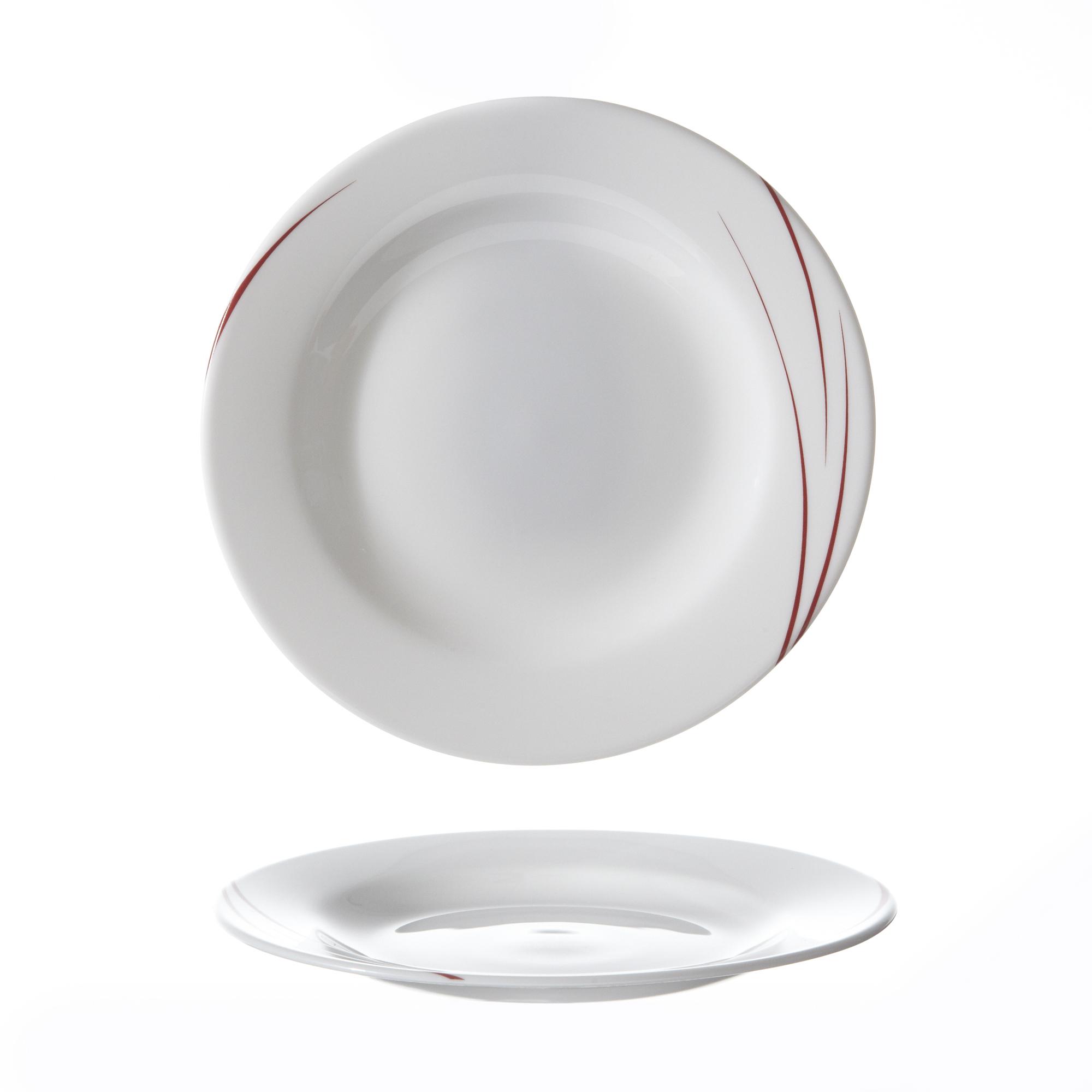 Art de la table  Vaisselle en verre trempé  Assiette plate 270 mm Toronto