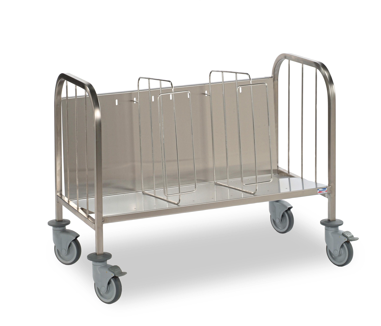 Chariot porte assiettes en inox 400 mjpro restauration for Porte assiettes pour cuisine