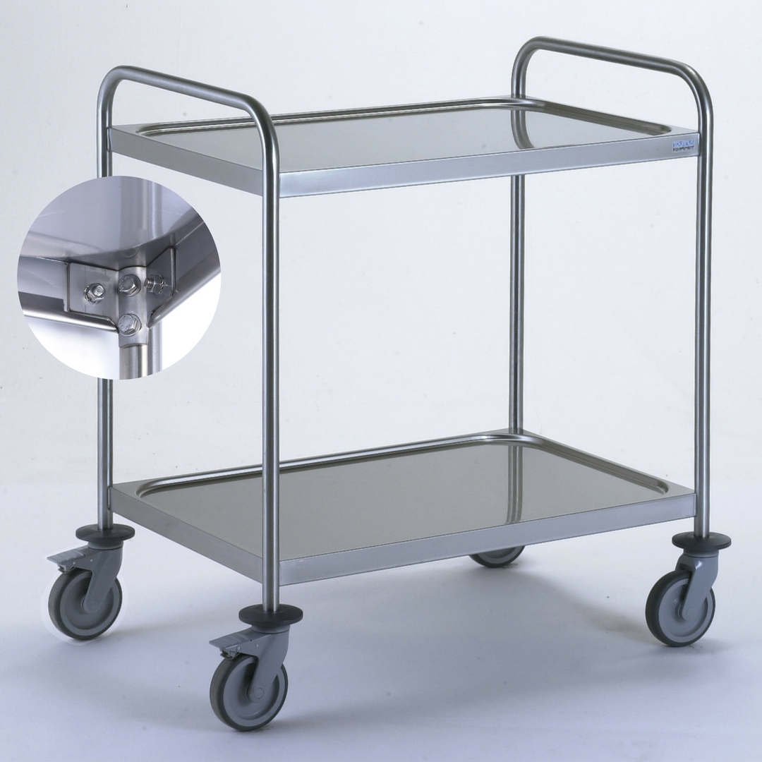 Chariot en inox 3 plateaux 1000x600 mm boulonn s mjpro for Chariot inox restauration