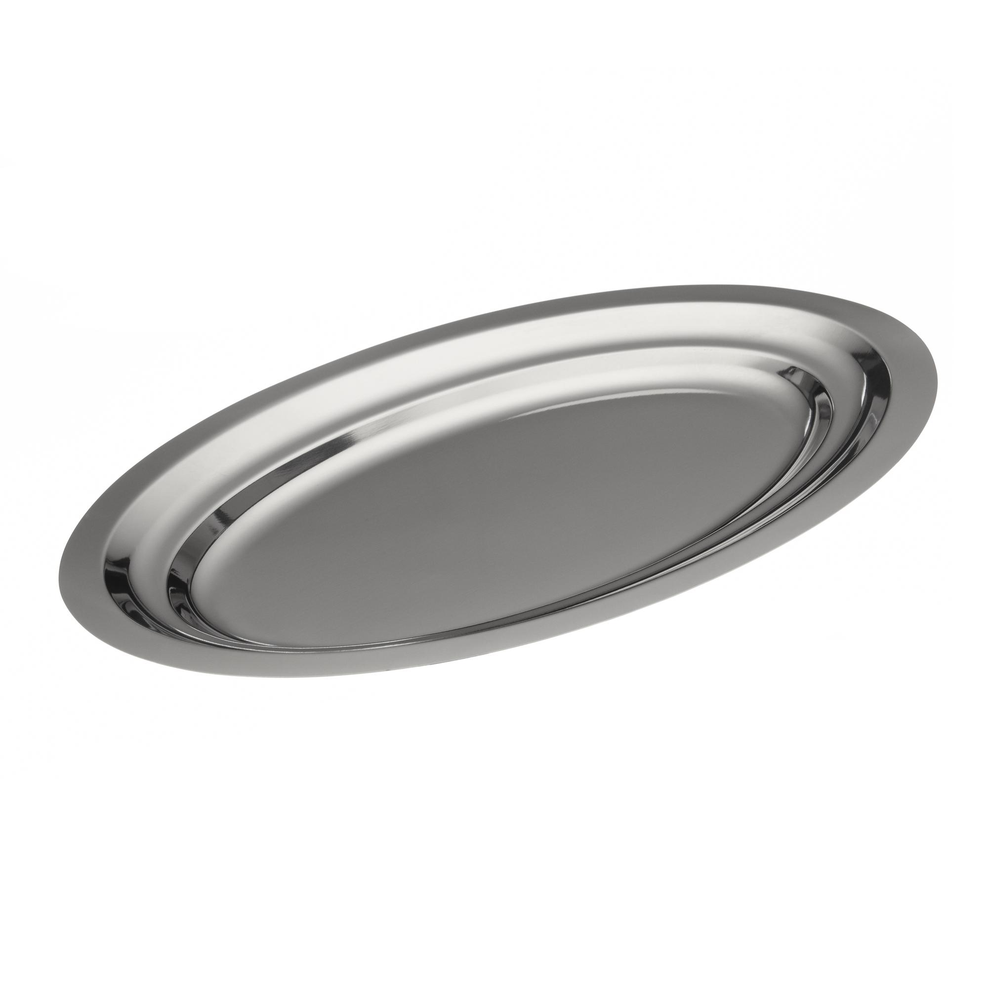 plat ovale en inox 18 longueur 280 mm mjpro