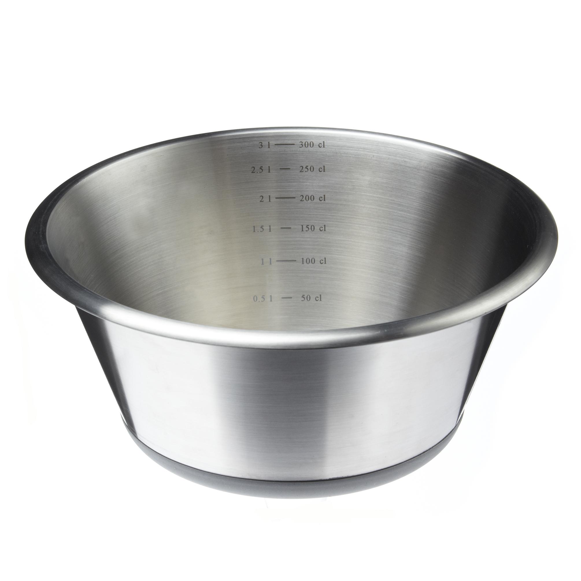 Bassine conique en inox avec base en silicone 28 cm for Equipement cuisine collective