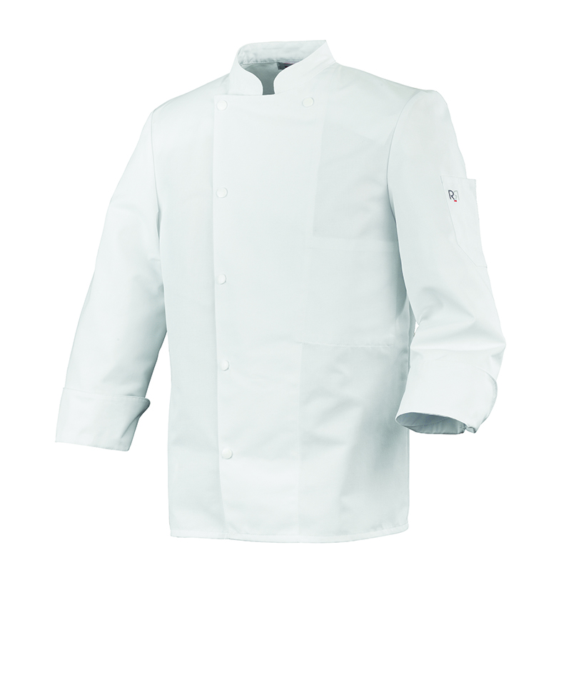 Veste Cuisinier Mixte Madras boutons pressions calotes blanches