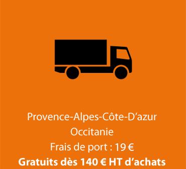 PACA & Languedoc Roussillon - Frais de port : 19 € - Gratuits dès 140 € d'achat