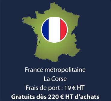 France métropolitaine & Corse - Frais de port : 19 € - Gratuits dès 220 € d'achat